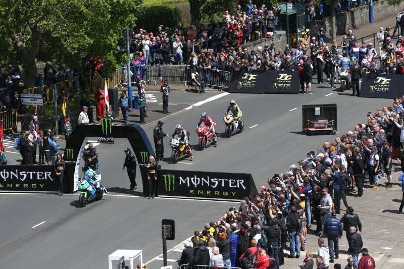 Isle f Man TT, Starting line. Dean Harrison setting off.