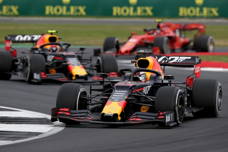 Pierre Gasly, Max Verstappen & Charles Leclerc