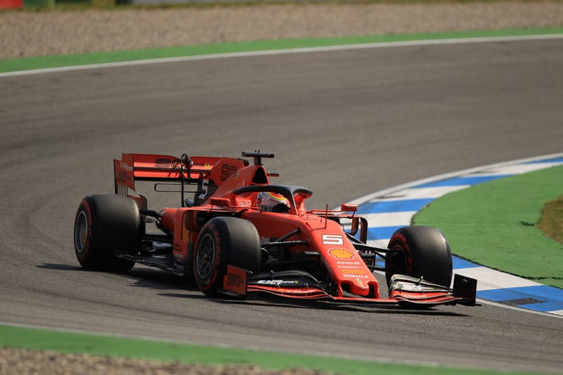 Sebastian Vettel - Scuderia Ferrari Mission Winnow at the 2019 Formula 1 German Grand Prix - Hockenheimring - Free Practice 1
