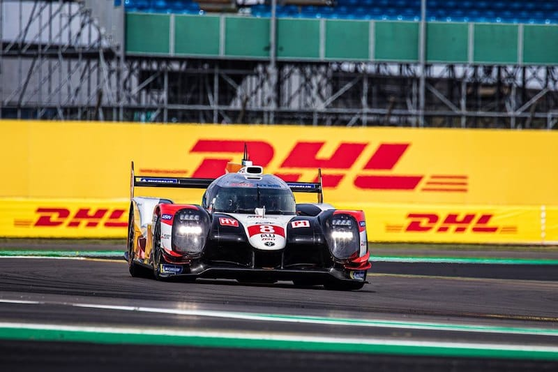 Toyota on track at Silverstone during WEC qualifying