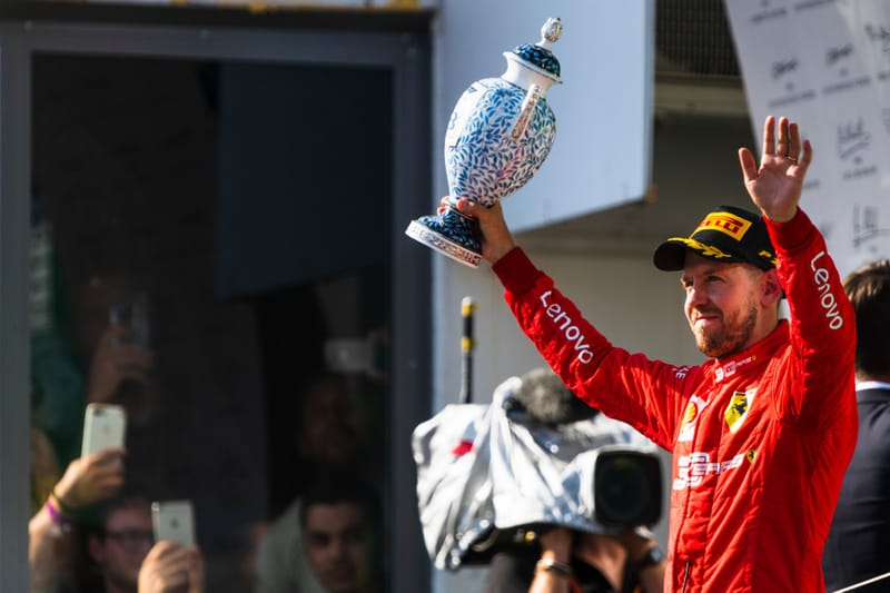 Sebastian Vettel - Scuderia Ferrari Mission Winnow at the 2019 Formula 1 Hungarian Grand Prix - Hungaroring - Podium