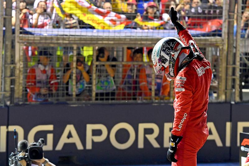 Charles Leclerc - Scuderia Ferrari Mission Winnow in the 2019 Formula 1 Singapore Grand Prix - Marina Bay Street Circuit - Qualifying - Parc Ferme