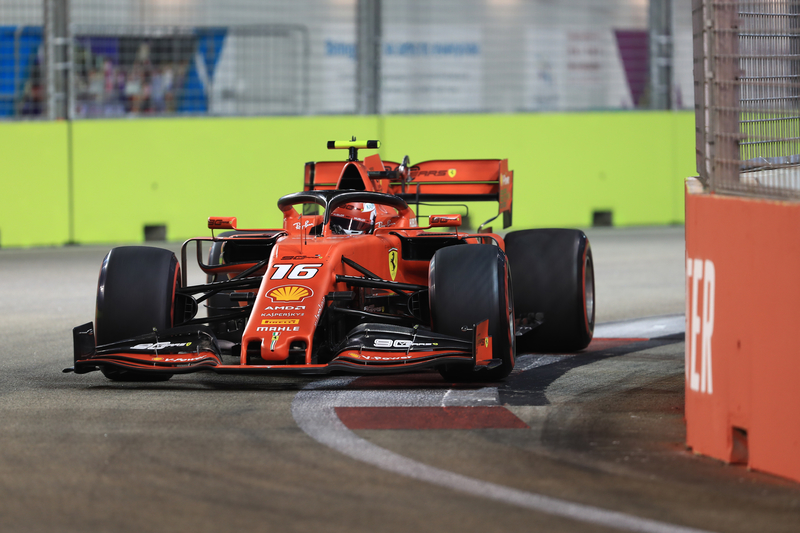 Charles Leclerc - Scuderia Ferrari Mission WInnow in the 2019 Formula 1 Singapore Grand Prix - Marina Bay Street Circuit - Qualifying