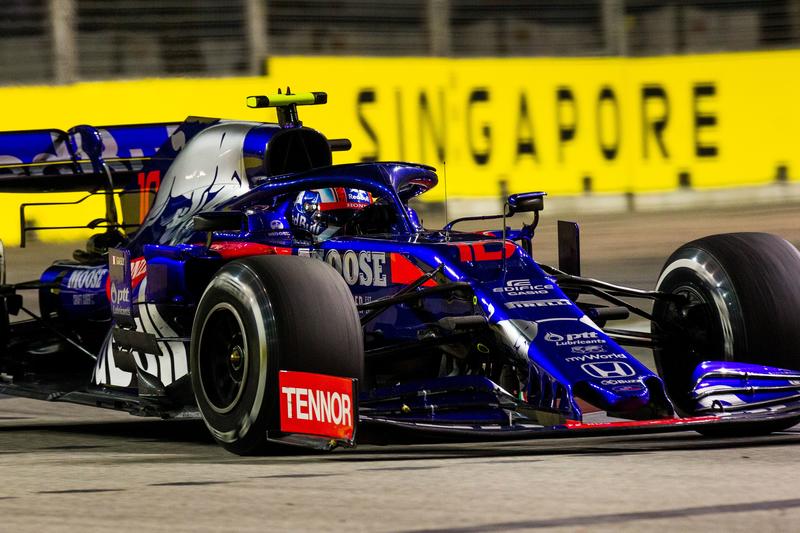 Pierre Gasly - Red Bull Toro Rosso Honda in the 2019 Formula 1 Singapore Grand Prix - Marina Bay Street Circuit - Free Practice 2