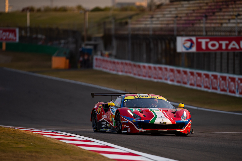 #71 AF Corse on track at Shanghai International Circuit, 2019