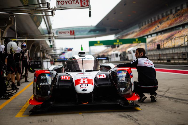 Toyota Gazoo Racing in Pitlane at Shanghai