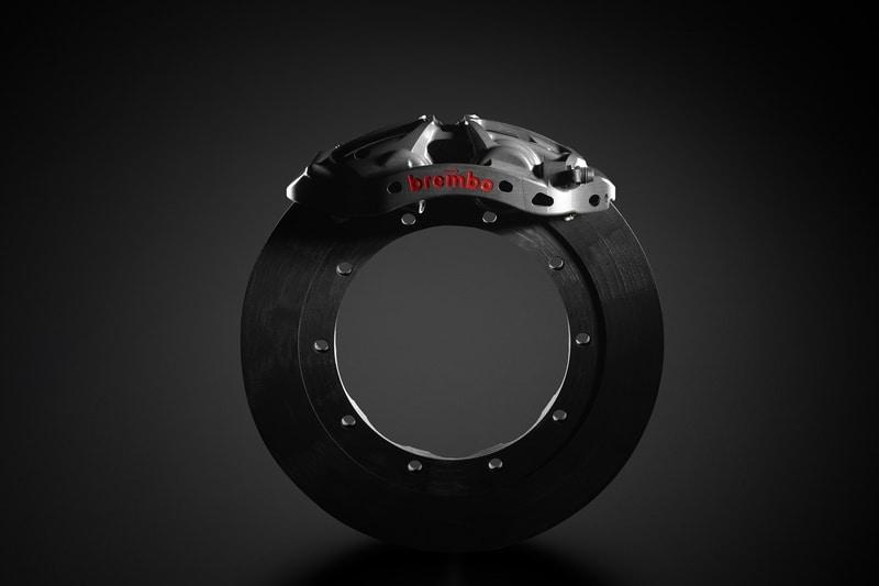 Brembo new brake disc and caliper