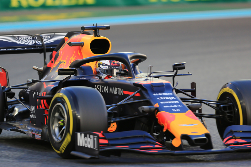 Max Verstappen - Aston Martin Red Bull Racing in the 2019 Formula 1 Abu Dhabi Grand Prix - Yas Marina Circuit - Free Practice 2