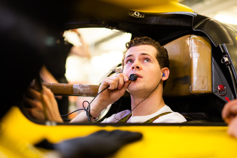 Harrison Newey on board LMP2 Racing Team Nederland