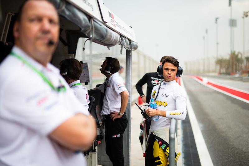 Nyck de Vries on the pit wall with Toyota Gazoo Racing