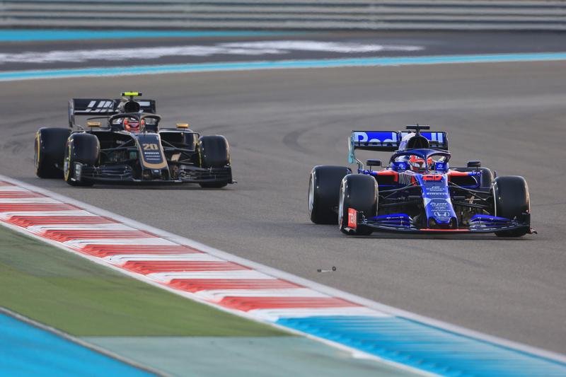 Daniil Kvyat - Red Bull Toro Rosso Honda & Kevin Magnussen - Haas F1 Team in the 2019 Formula 1 Abu Dhabi Grand Prix - Yas Marina Circuit - Race