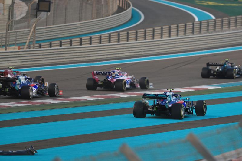 Pierre Gasly - Red Bull Toro Rosso Honda in the 2019 Formula 1 Abu Dhabi Grand Prix - Yas Marina Circuit - Race