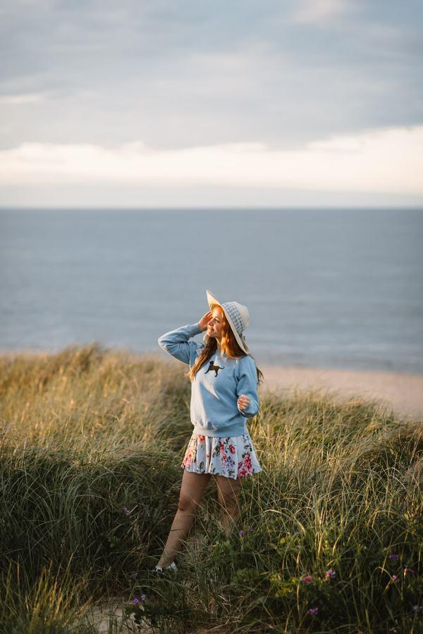 girl on beach dune