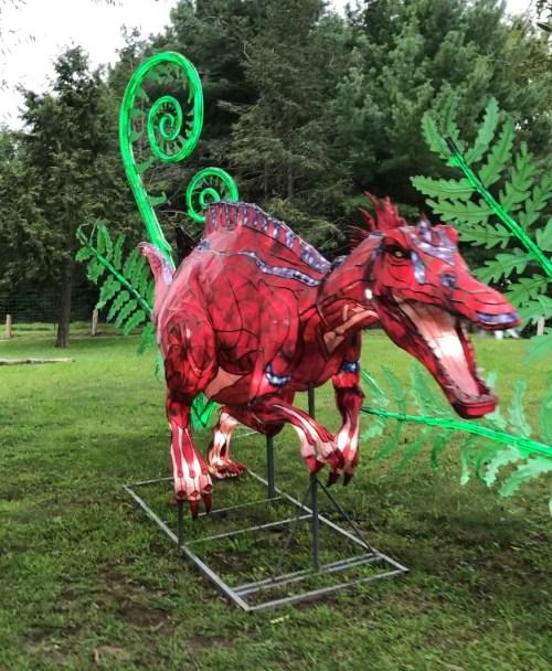 dinosaur lantern display