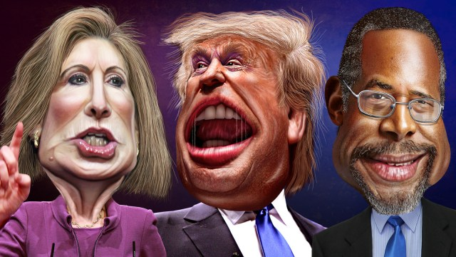 GOP Top Three August 2015 - Fiorian, Trump and Carson