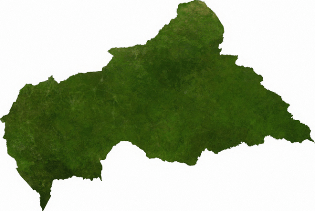 Satellite image of Central African Republic
