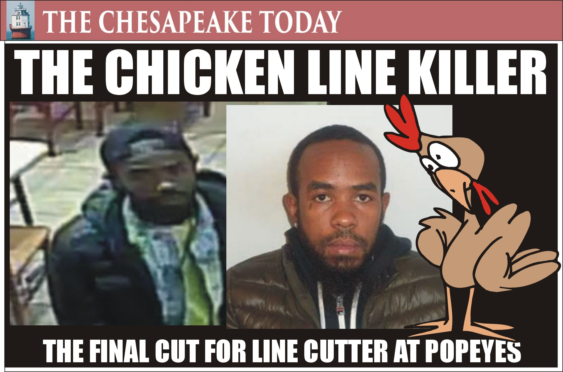MURDER USA: Chicken sandwich line cutter Kevin Davis got the final cut from the accused killer, Ricoh McClain now wanted by cops