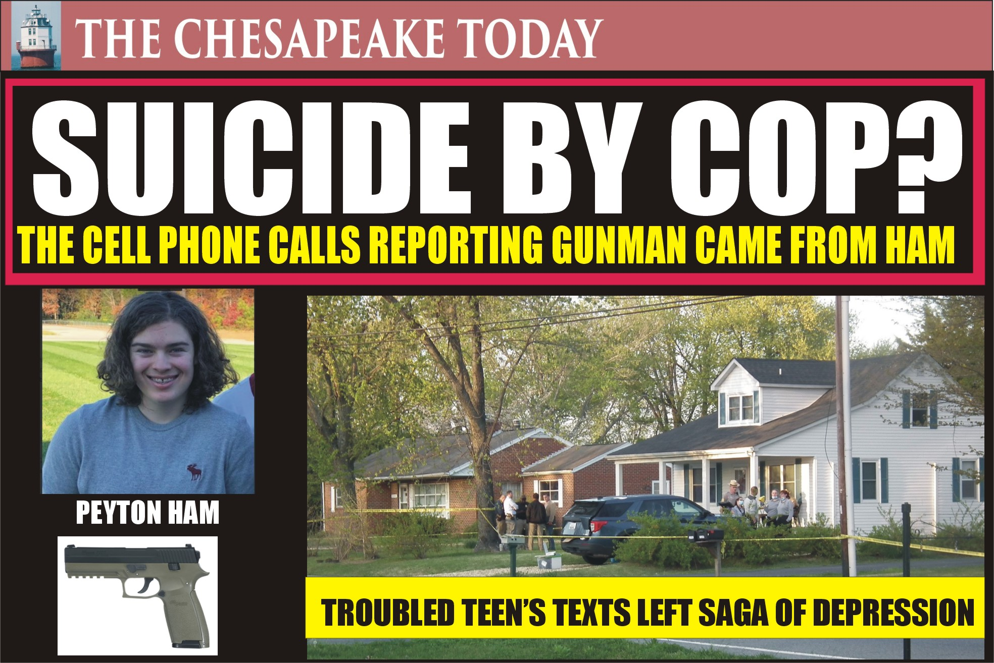 SUICIDE BY COP: CELL PHONE REVEALS PEYTON HAM PLACED CALLS TO 911 THAT LED TROOPER TO HIS TRAP