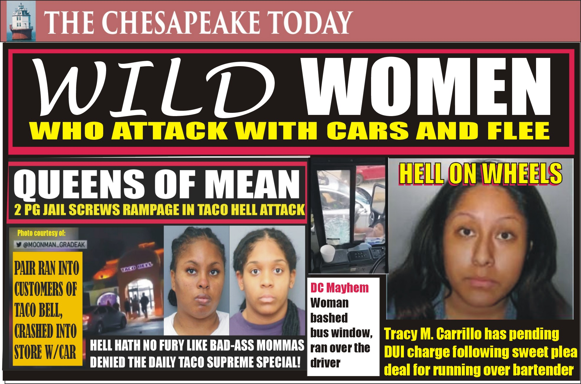 WOMEN WHO ATTACK WITH CARS: The Wild World of Entitled Violent Women Who Drive Over Food Servers, Bus Driver