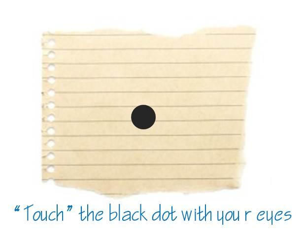 the black dot