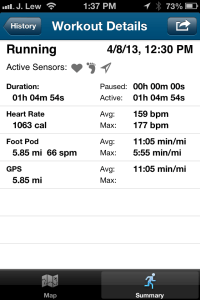 Workout Details 04-08-2013