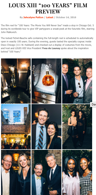 """Louis XIII """"100 Years"""" Preview Party"""