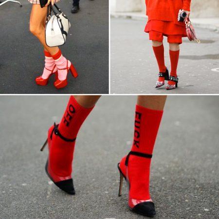 Sandali con calza fashion week tendenze the chic jam