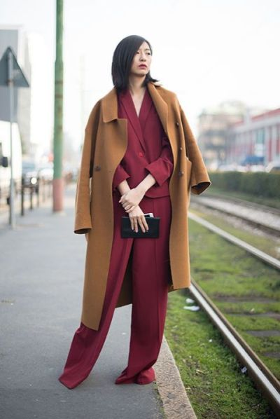 Total look bordeaux color cammello outfit abbinamento The Chic Jam