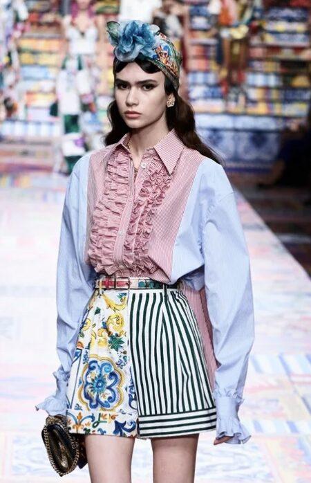 Camicia ruches Dolce & Gabbana
