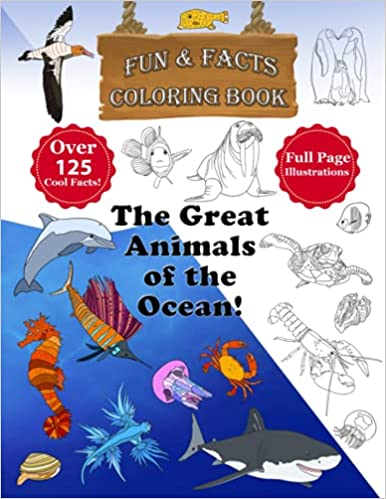 The Great Animals of the Ocean Coloring Book