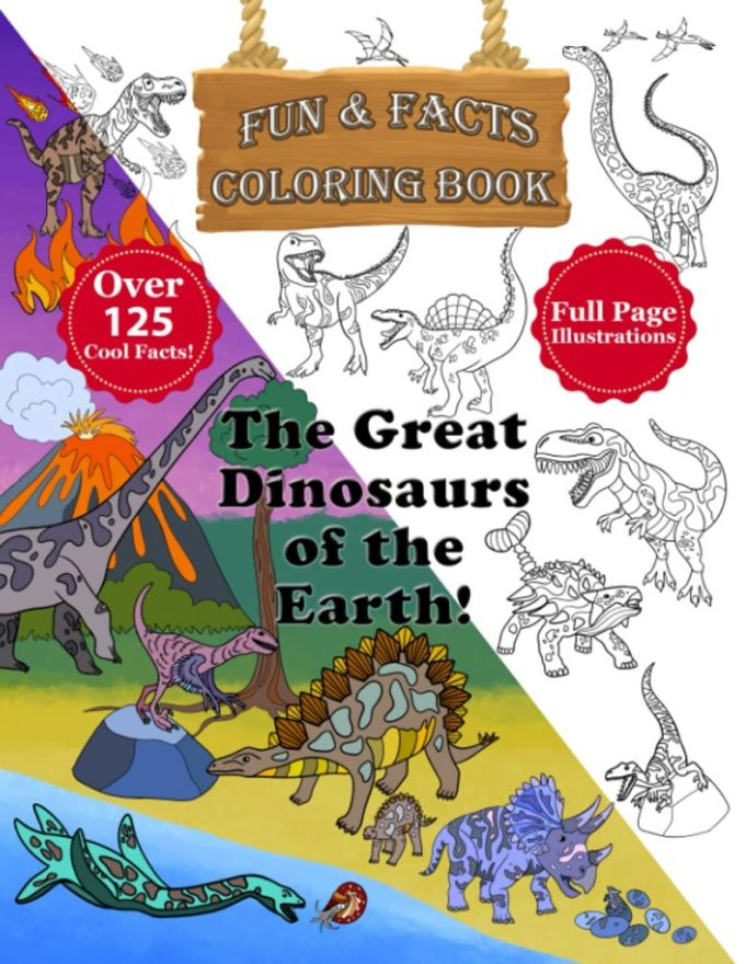 The Great Dinosaurs of the Earth Coloring Book