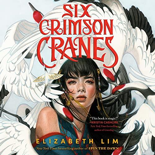 SIX CRIMSON CRANES Audiobook Cover