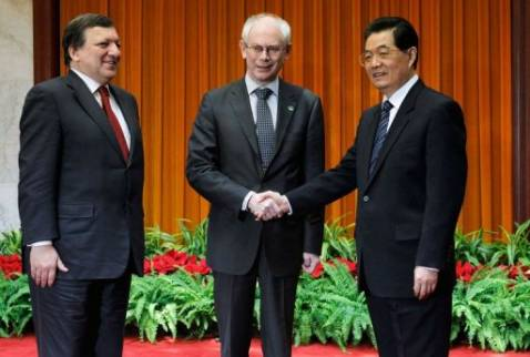 China reiterated its support for the EU and euro