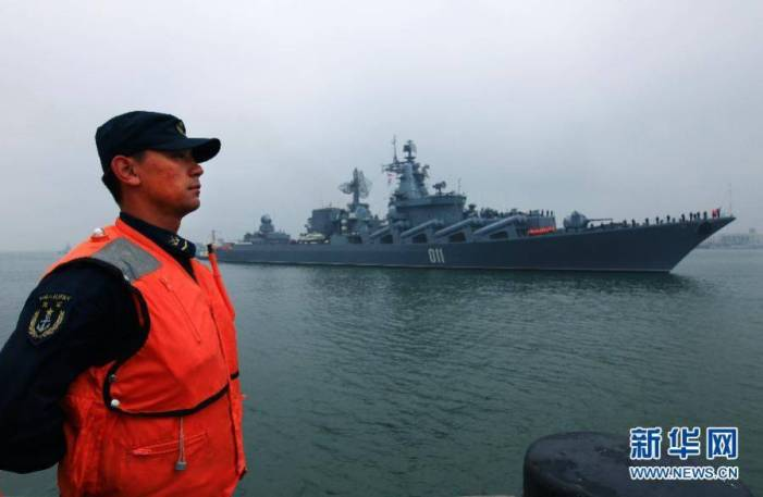 Russian Pacific Fleet's flagship Varyag arrives in China for joint drill