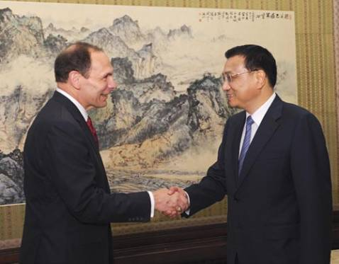 Li Keqiang meets U.S.-China Business Council delegation