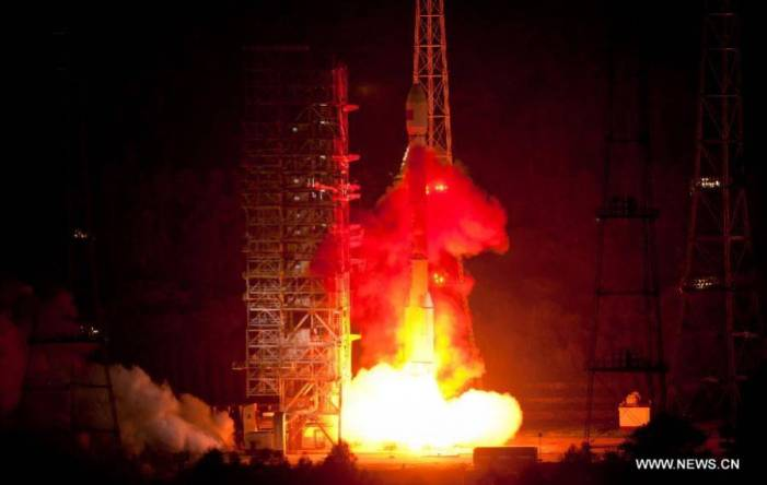 Long March-3C carrier rocket sends third data relay satellite into space