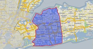 Map of Nassau County