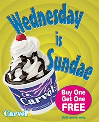 Wednesday is Sundae at Carvel
