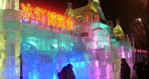 Chinese Restaurant Made of Ice