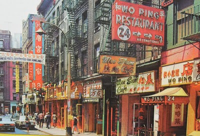 1960s-CHINATOWN-New-York-City-Vintage-Photo-Postcard