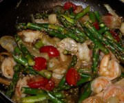 Recipe for Sesame Asparagus Shrimp (Low Carb)