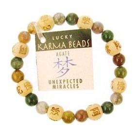 Genuine Agate and Wooden feng shui bracelet