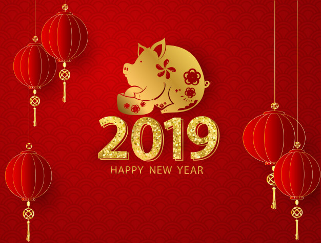 chinese lunar new year 2019 - year of the pig