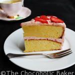 White Chocolate Strawberry Mudcake