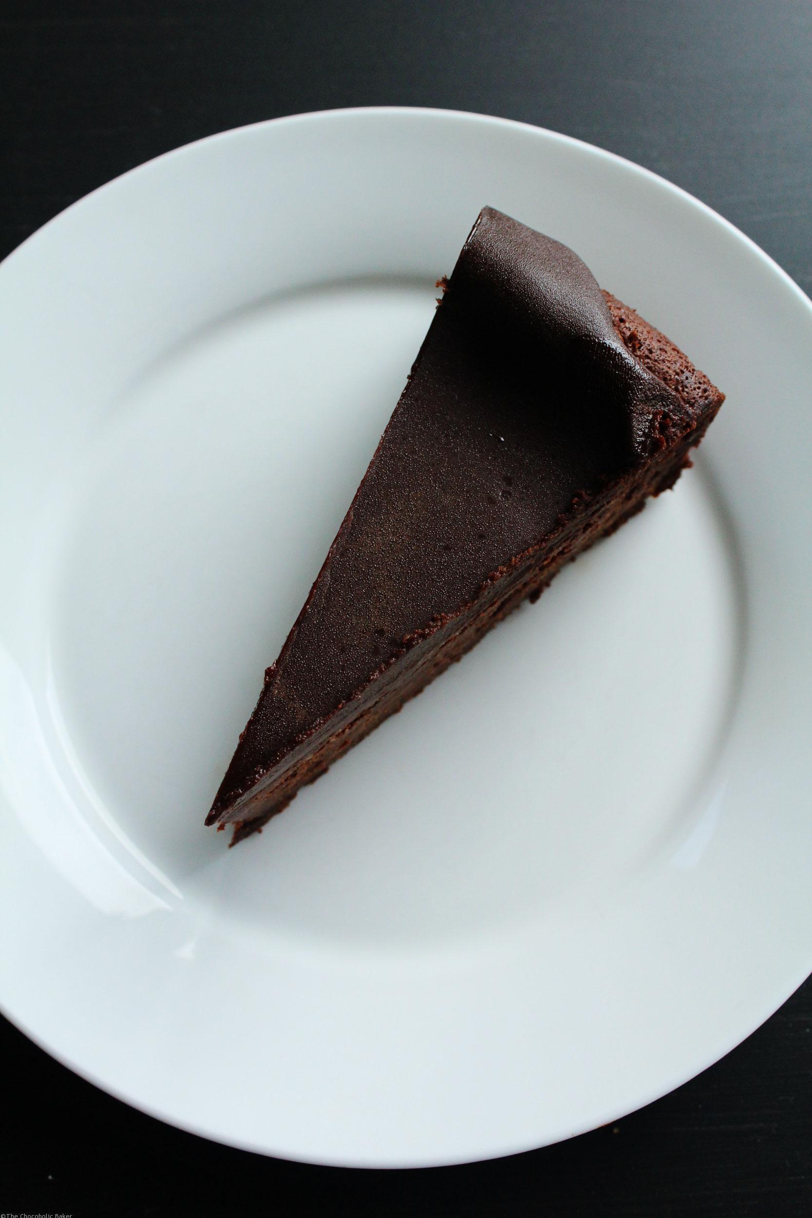 Dense Gluten Free Chocolate Cake - The Chocoholic Baker