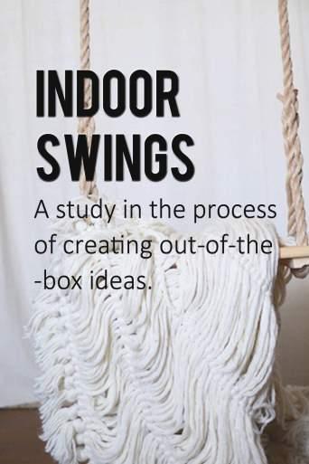 creative process- Blog on indoor swings