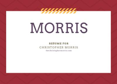 Christopher Morris Resume Logo