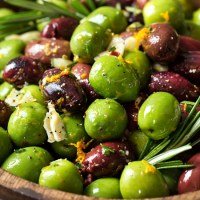 Easy Citrus Herb Marinated Olives