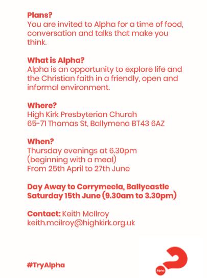 Alpha at High Kirk Presbyterian Church, Ballymena