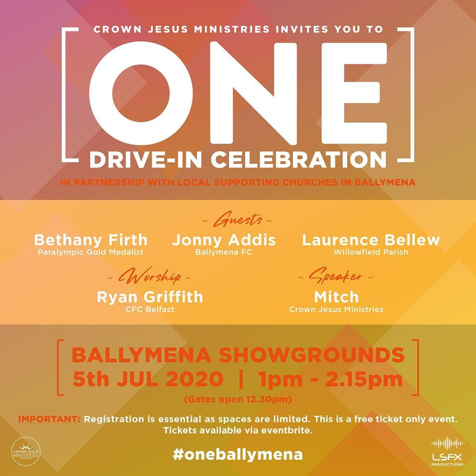 ONE Drive-In Celebration ~ Ballymena Showgrounds ~ 5th July 2020